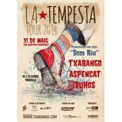 Entrada concert presentació nou disc de Txarango 'Som Riu' a Burjassot 31 de maig