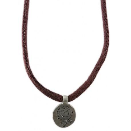 Braçalet/collar rosa plata