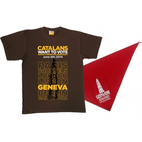 "Pack samarreta+mocador casteller ""Catalans want to vote"""