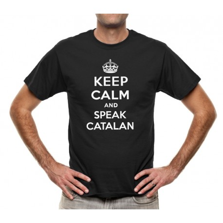 Samarreta negre Keep Calm and speak catalan