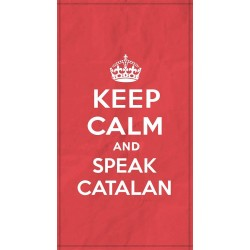 Tovallola tècnica mida gran Keep Calm and speak catalan