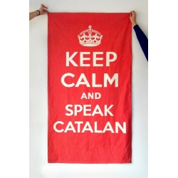 Tovallola tècnica mida petita Keep Calm and speak catalan