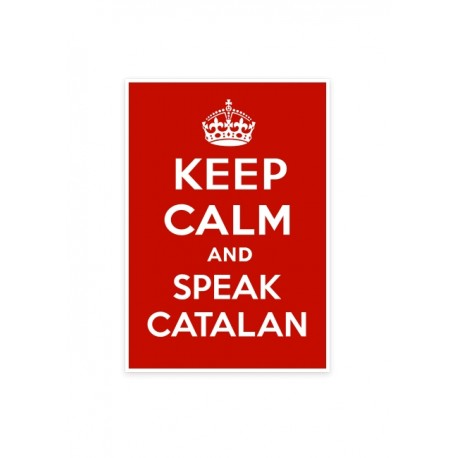 Adhesiu petit Keep Calm and speak catalan