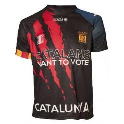 Samarreta oficial selecció catalana hoquei negra