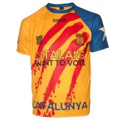 Samarreta oficial selecció catalana hoquei groga