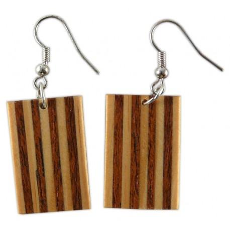 Arracades llargues senyera de fusta