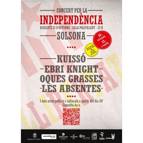 Entrada Concert per la Independència a Solsona