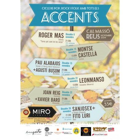 """Abonament """"Accents"""", cicle de pop, rock i folk amb tots els accents (Reus)"""