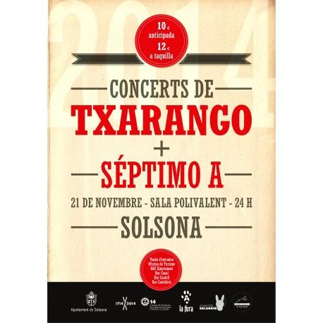 Entrada concert Txarango+Séptimo A a Solsona