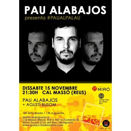 Entrada per al Concert de Pau Alabajos + Agustí Busom