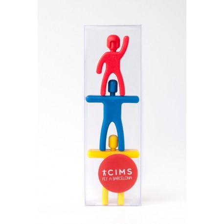 Imants 3 castellers plàstic Cims