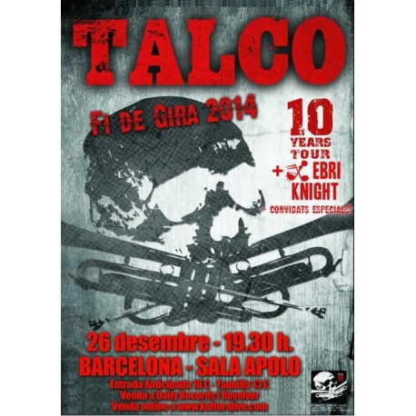 Entrada concert Talco + Every Knight Sala Apolo BCN + CD DVD