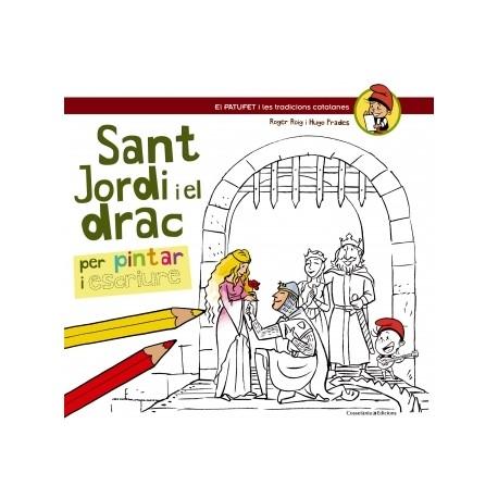 Llibre Sant Jordi i el Drac per pintar i escriure