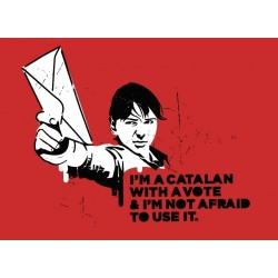 Samarreta noia vermella i'm not afraid
