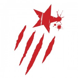 Samarreta m/llarga vermella Estelada taques