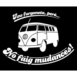 Samarreta m/llarga negre Tinc furgoneta