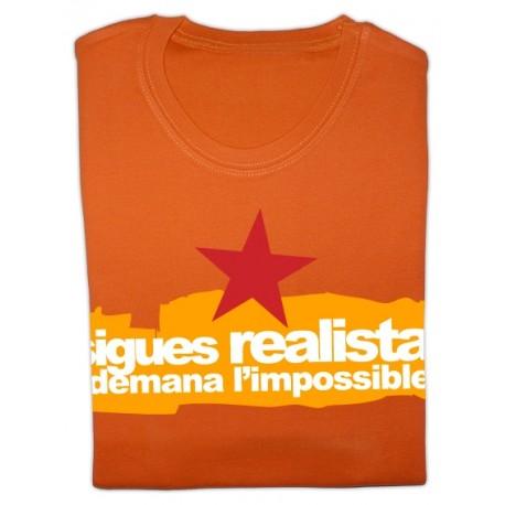 Samarreta noia m/curta taronja Sigues realista