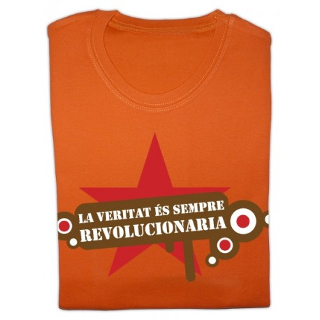 Samarreta noia m/curta taronja La veritat