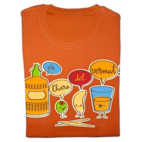 Samarreta noia m/curta taronja Vermut