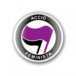 "Xapa ""Acció Feminista"""