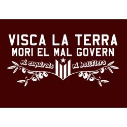 """Samarreta noia """"Mori el mal govern"""""""