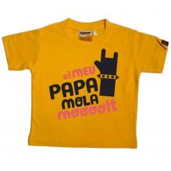 Samarreta El meu papa mola molt Rock