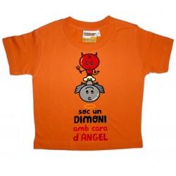 """Samarreta infantil """"Sóc un dimoni amb cara d'àngel"""""""