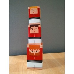 Castellers de paper retallable A4-5