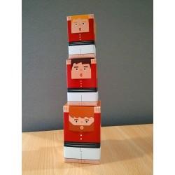 Castellers de paper retallable A4-6