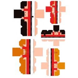 Castellers de paper retallable A3-1