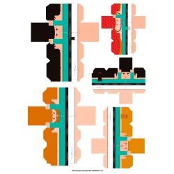 Castellers de paper retallable A3-2