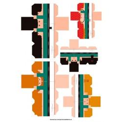 Castellers de paper retallable A3-8