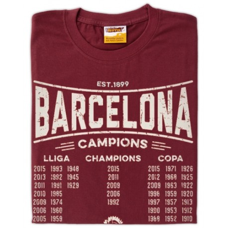 Samarreta unisex Barcelona Campions