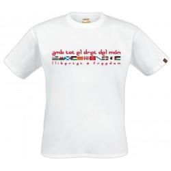 Samarreta BLANCA Amb tot el dret del món