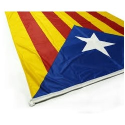 Bandera estelada blava estampada màstil
