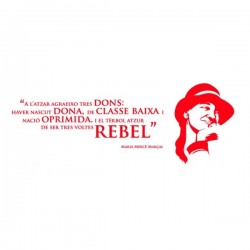 Vinil decoratiu per a paret Tres voltes rebel!
