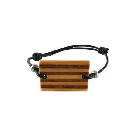 Braçalet amb senyera de fusta