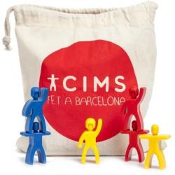 Bossa de castellers plàstic multicolor Cimets (Cims)