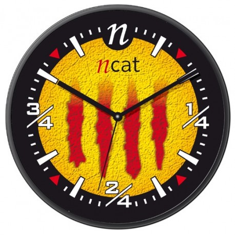 Rellotge de paret senyera NCAP33