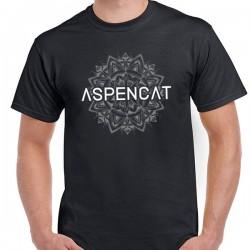 Samarreta unisex Aspencat model Mandala negra