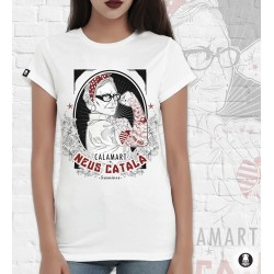 Samarreta noia Neus català hipster tatuada