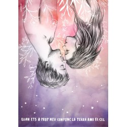 Postal amb il·lustració Figues de Moro - Gerard Quintana I Xarim Aresté