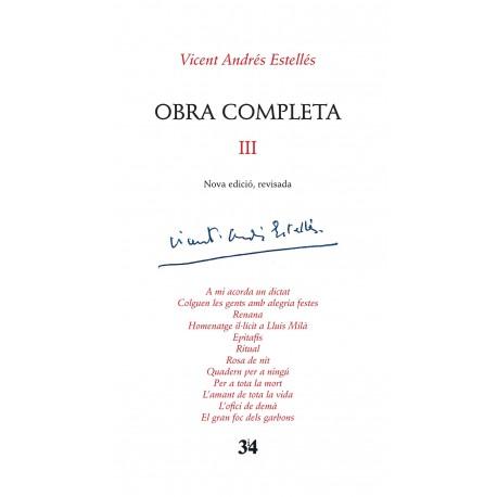 Llibre Vicent Andrés Estellés - Obra completa III
