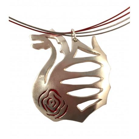 Collaret plata drac de Sant Jordi