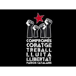Samarreta Compromís i coratge negra - oferta