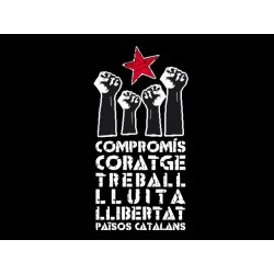 Samarreta Compromís i coratge negra