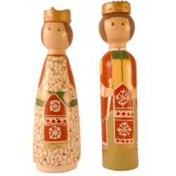 Reproducció artesanal figures de fusta de la parella de gegants de Cardedeu