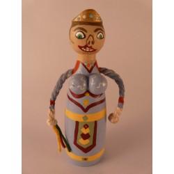 Reproducció artesanal figures de fusta de la parella de gegants bojos de Solsona