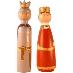 Reproducció artesanal figures de fusta de la parella de gegants de Mataró