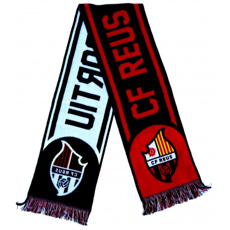 Bufanda CF Reus Deportiu negre-vermell/negre-blanc